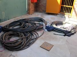 Koperkabels met 'n geskatte waarde van R500 000 is op beslag gelê deur die Moot-polisie. Foto: Andrea Küsel
