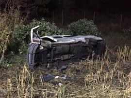 Five hurt as vehicle overturns.  Photo: Netcare 911