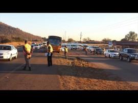 Tshwane metro police conducting a roadblock in Soutpansberg road on Tuesday. Photo: Facebook