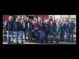 Old Timers Bikers Club helped Villieria Primary School and police in their initiative. Photo: Supplied