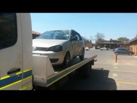 Die Volkswagen Polo waarin die verdagtes gevind is. Foto: Verskaf