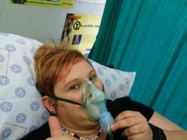 Renee sukkel nog so bietjie met haar longe. Foto: Verskaf