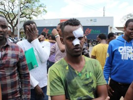 Asylum seeker Ahmed Hassan was assaulted at home affairs. Photo: Eliot