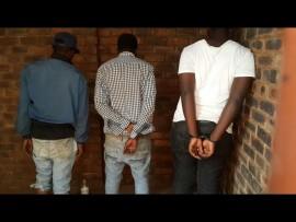 Three robbers were arrested in Erasmia. Photo: Supplied