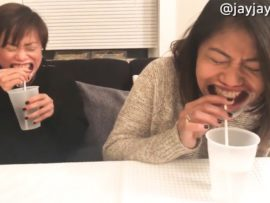 VIDEO OF THE DAY: Mouthguard drinking challenge