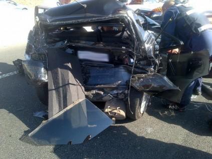 Four-car accident on highway   Randburg Sun