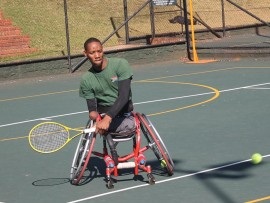 South African disabled tennis player Lucas Sithole insists there is good support from Gauteng Sports. File photo.