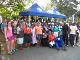 Residents and domestic workers attend a Domestic Watch meeting in Kensington B. Photo supplied