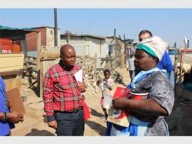 Herman Mashaba talks to Julia Mabatha in Kya Sand.