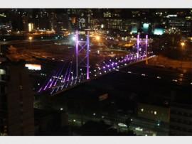 LIGHTS: Nelson Mandela Bridge goes pink for Breast Cancer Awareness Month.