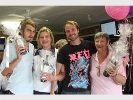 Ryan Smith, Nicola Tait, Trent Turner and Philda van Blerk at the Randburg Bowling Club.