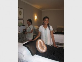 Past pupil, Bonisiwe Kumalo, who now works at the beauty spa at the Westcliff Hotel. Photo: Supplied.