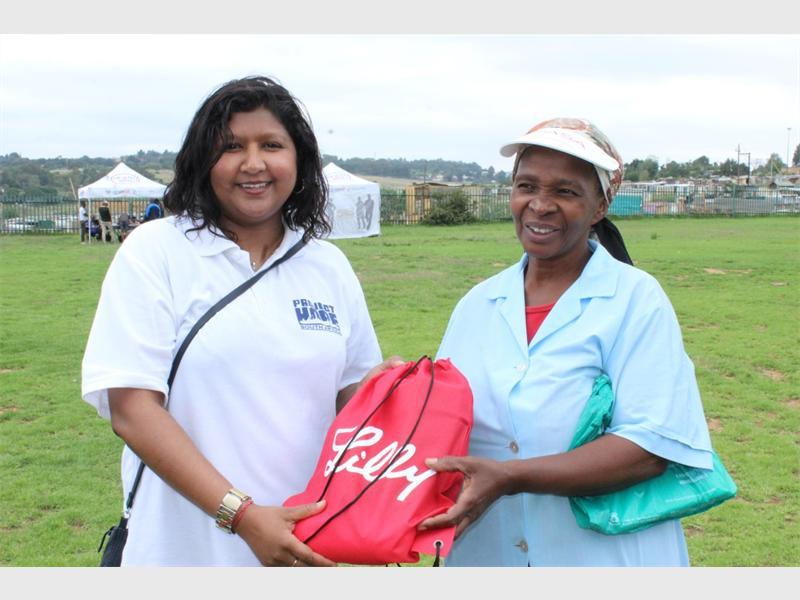 Erushka Pillay with Hazel Mgugu who came third.