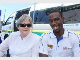 Chairperson of the CPF Sector 4 sub-forum, Louise Mynhardt and Gathel Moyo keep a watch on proceedings of the day.