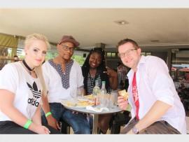 Back row: Simon Makwela and Heather Mavungu. Front row: Chane Cloete and Chris Kempen.