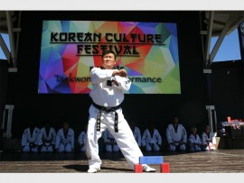 Master Eun Woo Lee of KJD Martial Arts Academy performs his 9th Dan. Photo: Supplied.