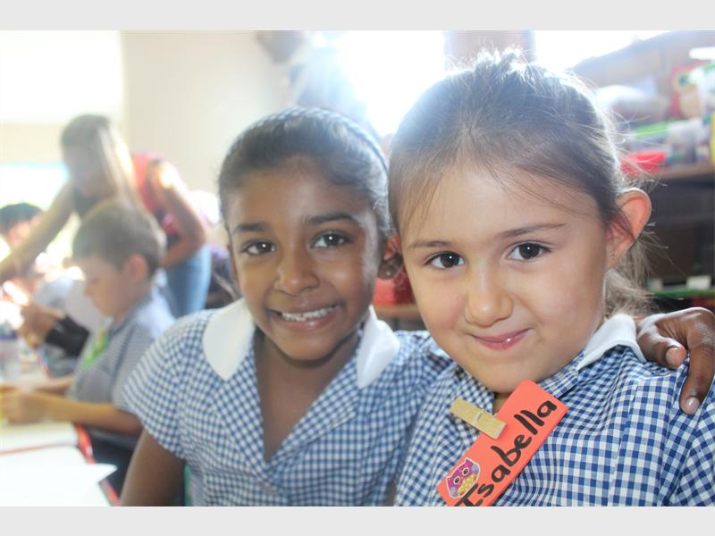 Navaeh Sayed and Isabella Lyros look forward to learning new things.