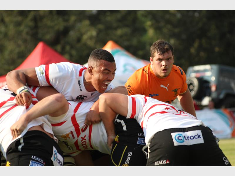 Xerox Golden Lions and Toyota Cheetahs in their Currie Cup match at Morgan Group Diggers Rugby Football Club.