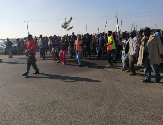 Protest action erupts in Kya Sand as some businesses decide to close