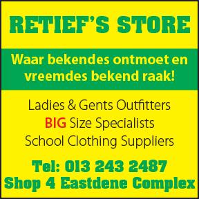 Retief's Store 013 243 2487