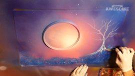 Spray Paint Artist Creates Fantasy Scene