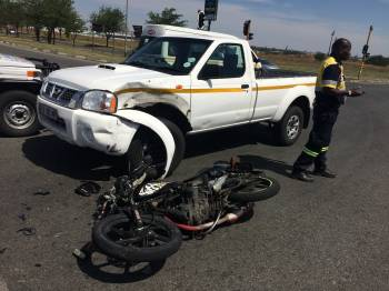 Two women injured in motorcycle accident on corner of Walter Sisulu