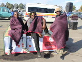24defe95948c0 The Running Hearts Foundation s first annual 50 Blankets for Winter event  was a success