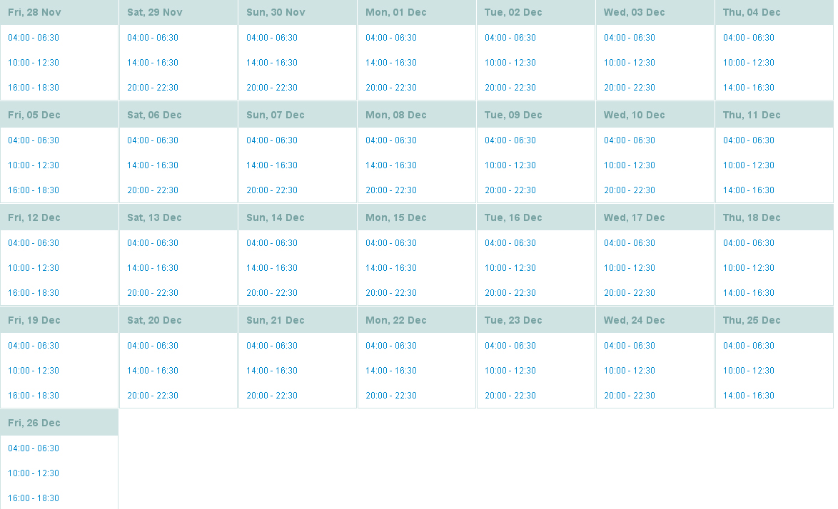 Load Shedding Schedule: Load Shedding Schedule (Stage 3)